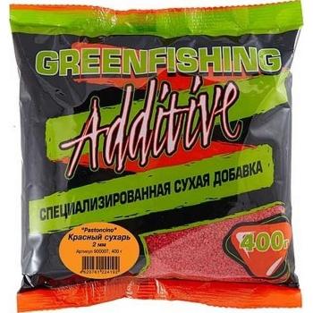 Добавка GREEN FISHING Pastoncino Сухарь Красный 0,4 кг в интернет магазине Rybaki.ru