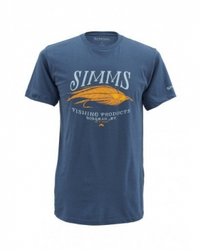 Футболка SIMMS Legacy Streamer SS T-S цвет Navy