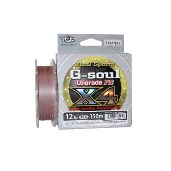 Плетенка YGK Real Sports G-Soul Upgrade PEx4 150 м цв. серый / красный # 0,8 в интернет магазине Rybaki.ru