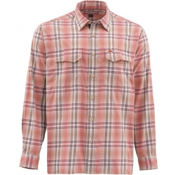 Рубашка SIMMS Legend Shirt цвет Dark Coral Plaid