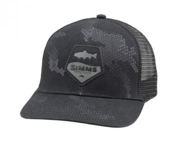 Кепка SIMMS Trout Patch Trucker цв. Hex Camo Carbon в интернет магазине Rybaki.ru