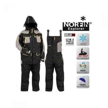 Костюм NORFIN Explorer цвет черный/серый в интернет магазине Rybaki.ru