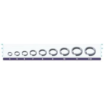 Кольцо заводное OWNER 5196-10 (72812) 220lb/99kg (6 шт.)