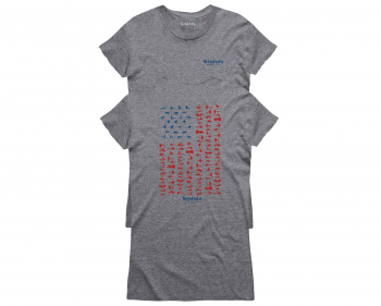 Футболка SIMMS Women's USA Flies T-Shirt цвет Grey Heather