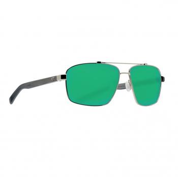 Очки поляризационные COSTA DEL MAR Flagler 580G р. L цв. Shiny Silver цв. ст. Green Mirror