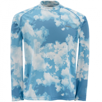 Футболка SIMMS Solarflex Crewneck цвет Blue Cloud Camo