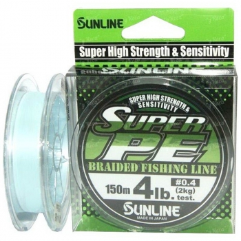 Плетенка SUNLINE New Super PE 150 м 2.5 цв. light blue в интернет магазине Rybaki.ru