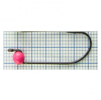 Джиг-головка вольфрамовая РУССКАЯ БЛЕСНА RB-309 кр. № 4 с микробородкой Hayabusa Teflon 0,65 г цв. 273 pink
