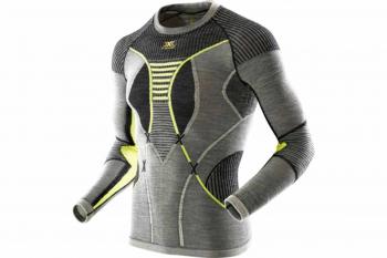 Футболка X-BIONIC Apani Merino By Man Uw Shirt Long Sl R цвет Черный / Серый / Слоновая кость