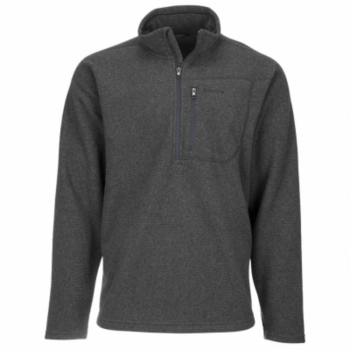 Пуловер SIMMS Rivershed Sweater Quarter Zip '20 цвет Carbon