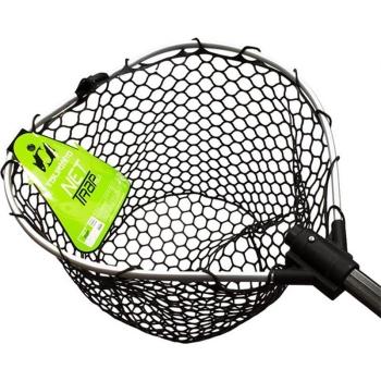 Подсачек TSURIBITO NET TRAP Fold c черной сеткой, складной, длина 150 см, диаметр 38 см в интернет магазине Rybaki.ru