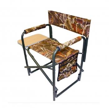 Кресло CAMPING WORLD General с откидным столиком и боковыми карманами цв. Камуфляж