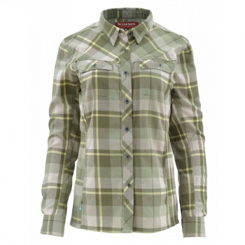 Рубашка SIMMS Women's Wool Blend Flannel цвет Spring Green Plaid