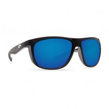 Очки поляризационные COSTA DEL MAR Kiwa 580P р. XL цв. Shiny Black цв. ст. Blue Mirror
