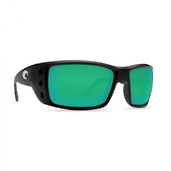 Очки поляризационные COSTA DEL MAR Permit W580 р. XL цв. Matte Black Global Fit цв. ст. Green Mirror Glass
