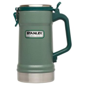 Кружка пивная STANLEY Classic Vacuum Insulated Stein (тепло 5 ч/ холод 5 ч) 0,71 л цв. Зеленый в интернет магазине Rybaki.ru