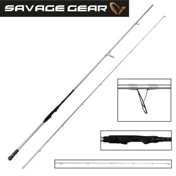 """Удилище спиннинговое SAVAGE GEAR Salt CCS 7'6"""" 228 см тест 20 - 60 г"""