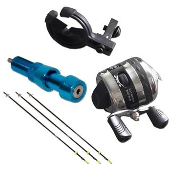 Набор TOPOINT для рыбной ловли (катушка, линь, полочка, крепеж, 3 гарпуна)