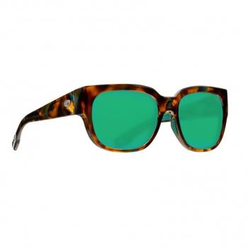 Очки поляризационные COSTA DEL MAR Waterwoman 580P р. M цв. Shiny Palm Tortoise цв. ст. Green Mirror