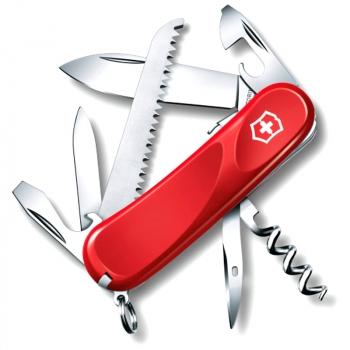 Нож VICTORINOX Evolution S13 р. 85 мм, 14 функций, с фиксатором лезвия, цв. красный
