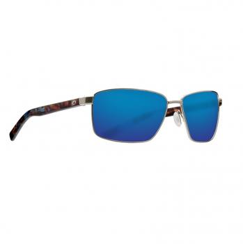Очки поляризационные COSTA DEL MAR Ponce 580P р. L цв. Brushed Silver цв. ст. Blue Mirror