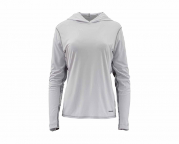 Футболка SIMMS Women's Solarflex Hoody - Print цвет Cloud Camo Grey