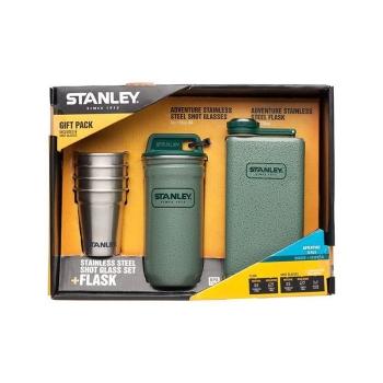 Набор STANLEY стопки Adventure 0,59 л + фляжка 0,23 л цв. Стальной / Зеленый