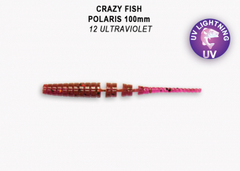 "Слаг CRAZY FISH Polaris Float 4"" (6 шт.) зап. кальмар, код цв. 12"