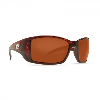 Очки поляризационные COSTA DEL MAR Blackfin 580G р. L Global Fit цв. Tortoise цв. ст. Copper Silver Mirror