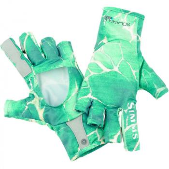 Перчатки SIMMS Solarflex SunGlove River Rapids цвет Island Green