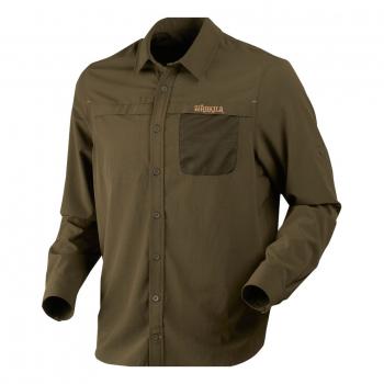 Рубашка HARKILA Herlet Tech LS Shirt цвет Willow green