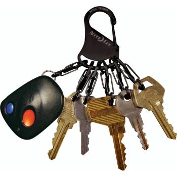 Брелок для ключей NITE IZE Key Rack мтл кар. цв. черный