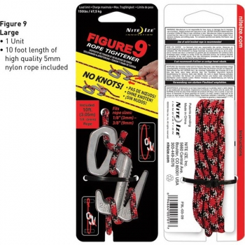 "Крепление для веревки NITE IZE ""9"" Rope Tightener 67,5 кг + шнур"