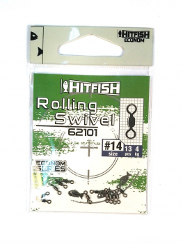 Вертлюг HITFISH Econom Series Rolling Swivel № 12 (13 шт.)