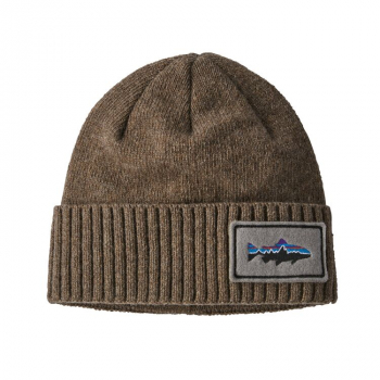 Шапка PATAGONIA Brodeo Beanie Fitz Roy Trout Patch цвет ASHT