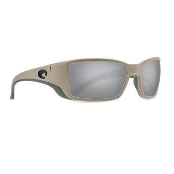 Очки поляризационные COSTA DEL MAR Blackfin 580G р. L цв. Sand цв. ст. Gray Silver Mirror