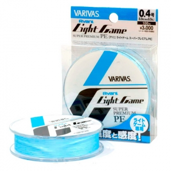 Плетенка VARIVAS Light Game Super Premium PE 100 м # 0,2 в интернет магазине Rybaki.ru