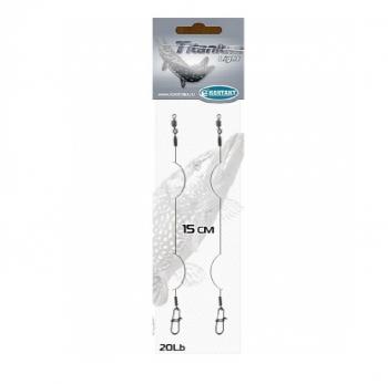 Поводок КОНТАКТ струна Titanium Light 20 см (2 шт.) в интернет магазине Rybaki.ru