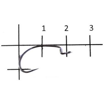 Крючок офсетный DECOY Kig Hook Worm 17 № 6 (9 шт.)