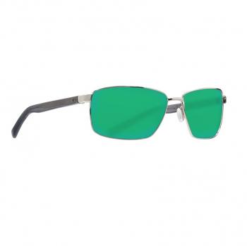 Очки поляризационные COSTA DEL MAR Ponce 580P р. L цв. Shiny Silver цв. ст. Green Mirror