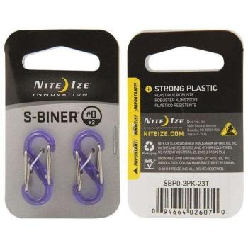 Карабин пластиковый NITE IZE S-Biner р. 0 (2 шт.) цв. фиолетовый