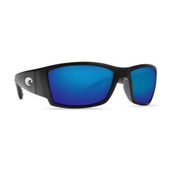 Очки поляризационные COSTA DEL MAR Corbina 580P р. L цв. Matte Black Global Fit цв. ст. Blue Mirror