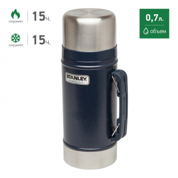 Термос STANLEY Legendary Classic Food Flask 0,7 л цв. синий в интернет магазине Rybaki.ru