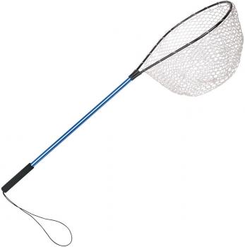 Подсачек SPRO Rubber mesh landing net Blue, 0,82 м, 40x50 см, глубина 50cm в интернет магазине Rybaki.ru
