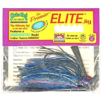 Бактейл STRIKE KING Premier Elite Jig 14 г (1/2 oz) цв. black / blue /purple flash
