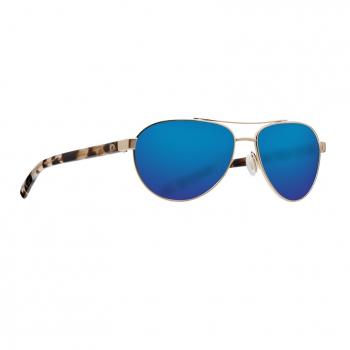 Очки поляризационные COSTA DEL MAR Fernandina 580G р. S цв. Brushed Gold цв. ст. Blue Mirror