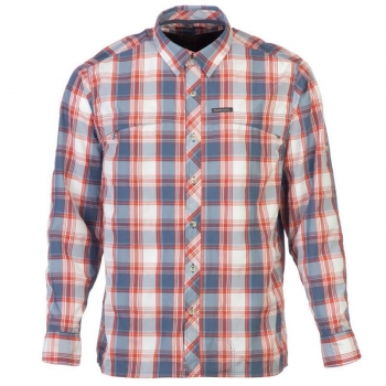 Рубашка SIMMS Stone Cold Shirt цвет Indigo Plaid