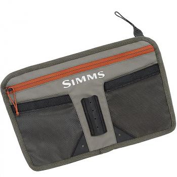 Карман для вейдерсов SIMMS Zip-In Tippet Tender Pocket цв. Greystone в интернет магазине Rybaki.ru