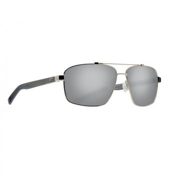 Очки поляризационные COSTA DEL MAR Flagler 580P р. L цв. Shiny Silver цв. ст. Gray Silver Mirror