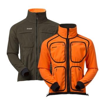 Куртка BERGANS Rana Reversible Jacket цвет Dark Olive / Neon Orange